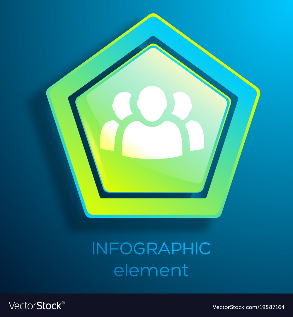 Business infographic element