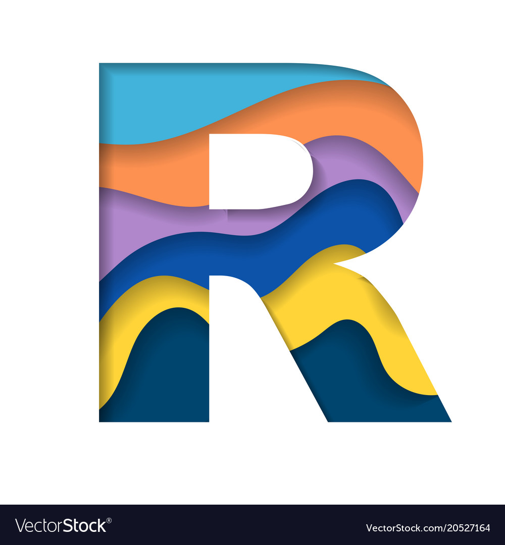 Colorful letter r