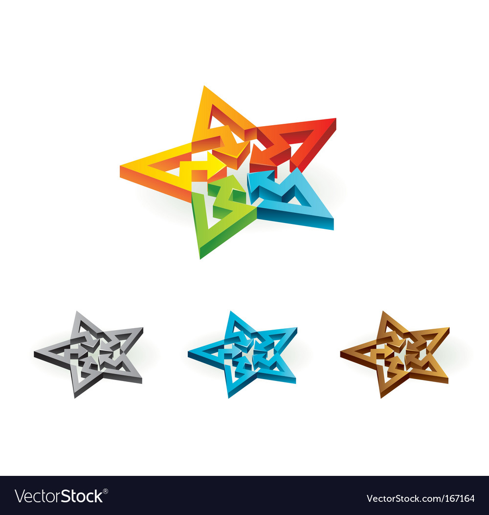 Colorful star sign