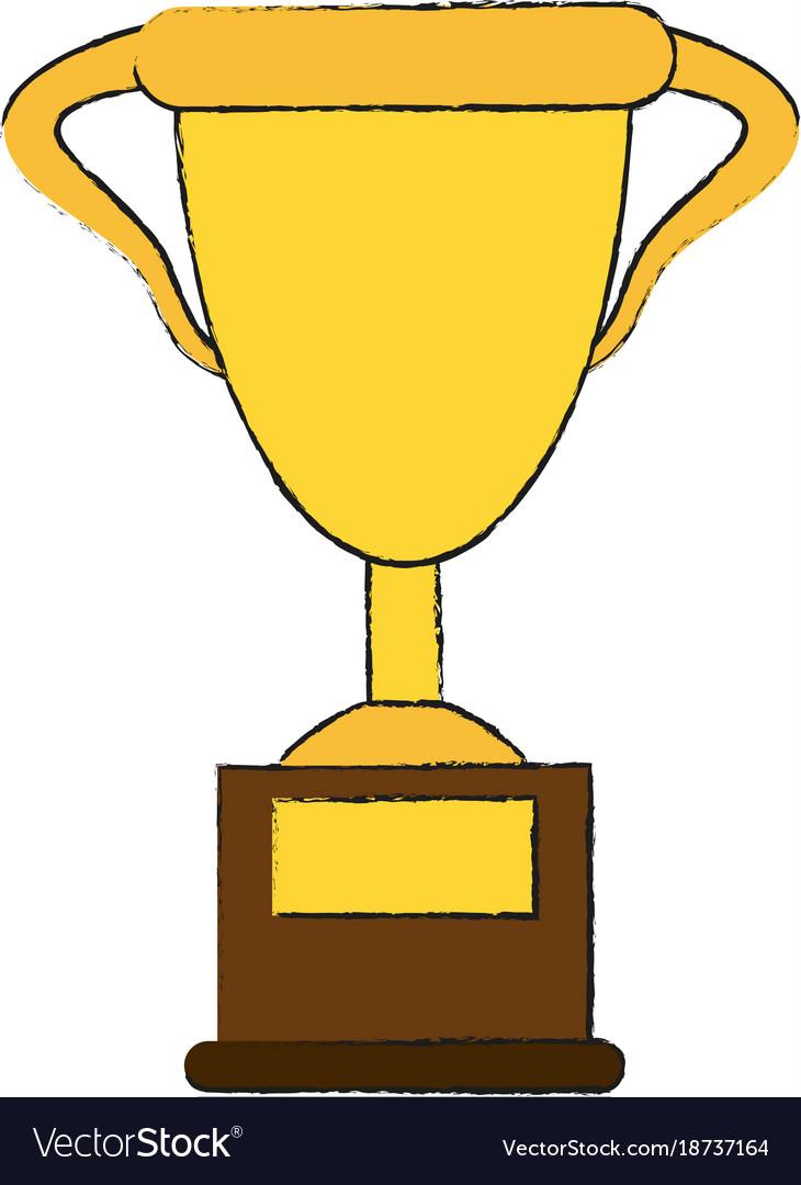 Cup Trophy Symbol Royalty Free Vector Image Vectorstock