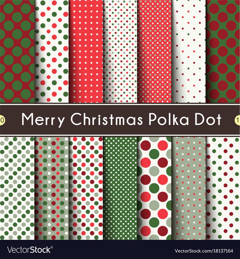Fourteen merry christmas polka dot