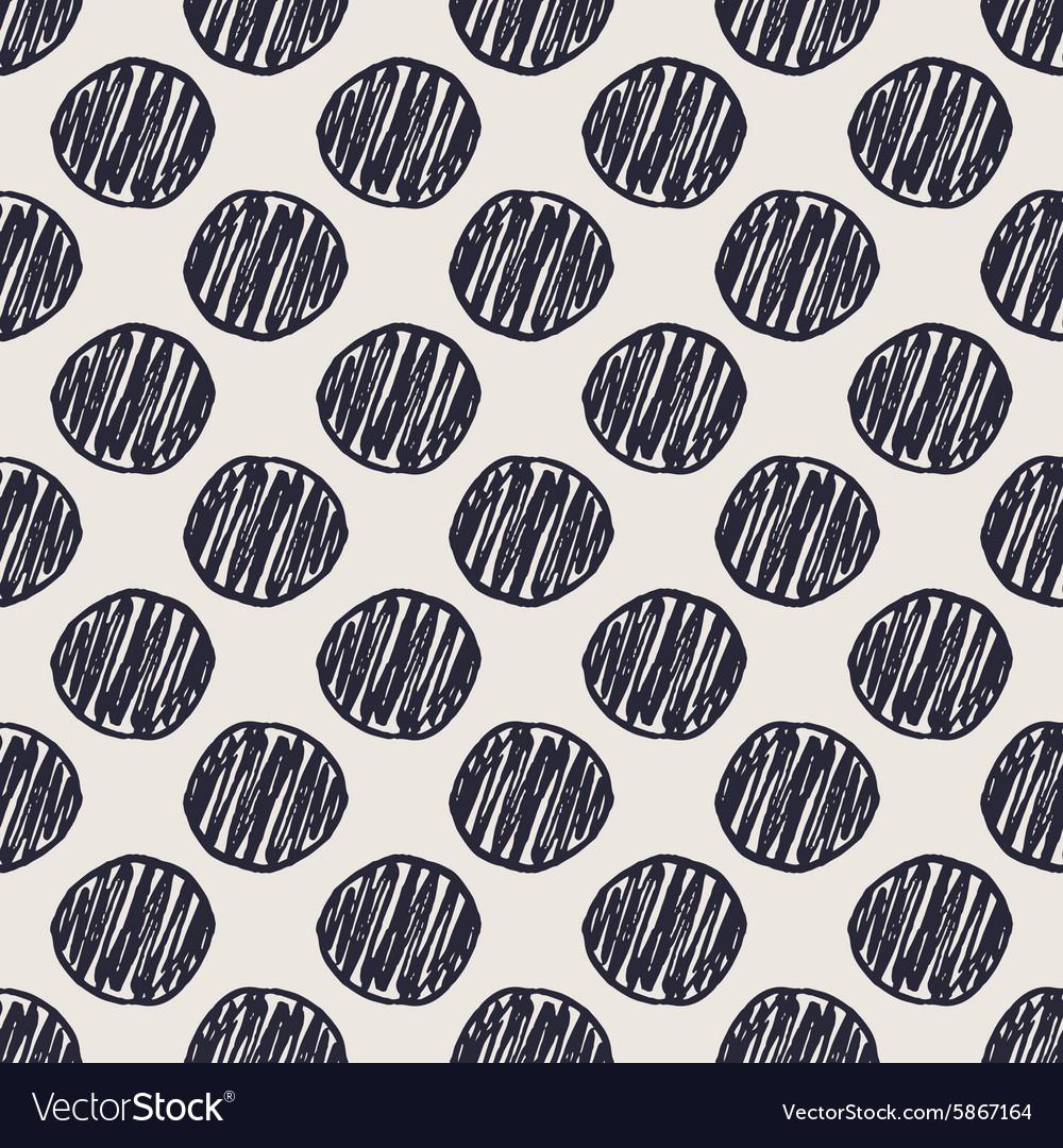 Geometric hand drawn polka dots seamless pattern