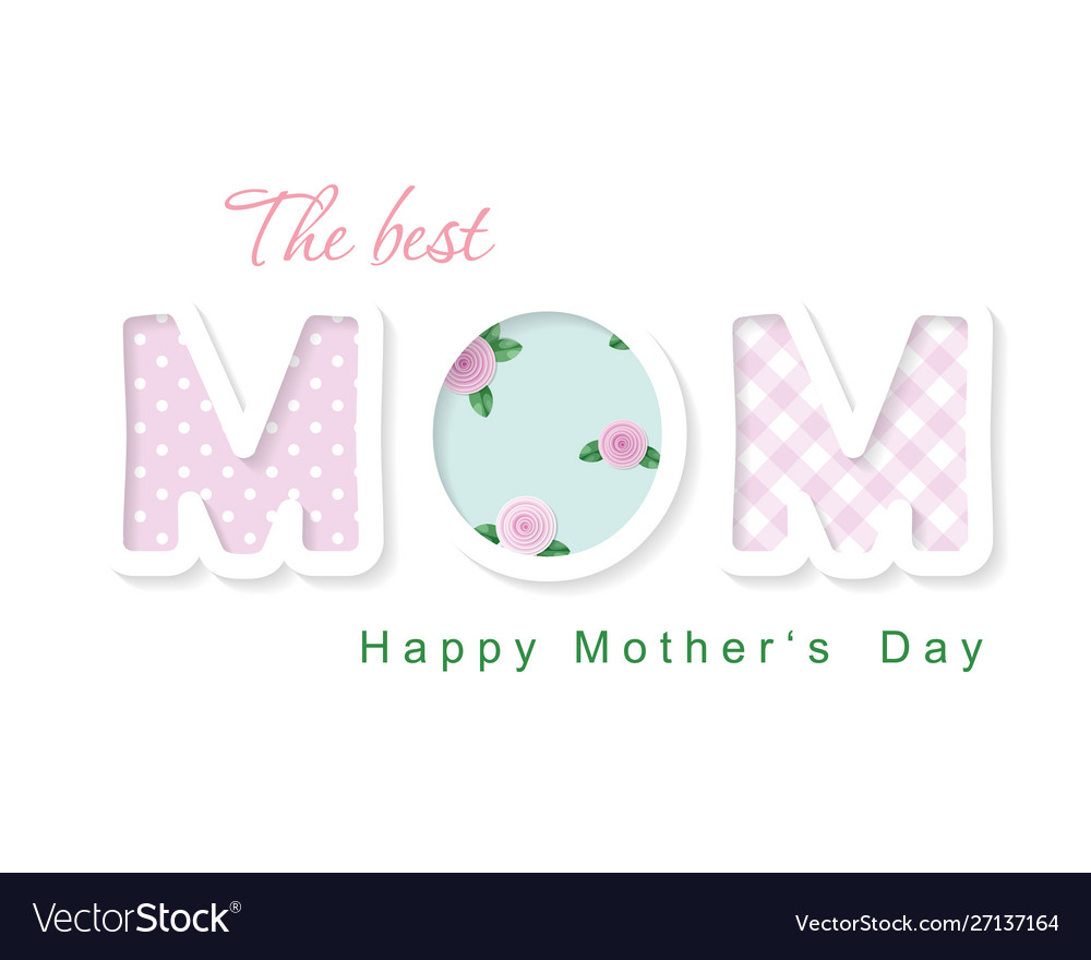 Happy mother s day the best mom cute cartoon