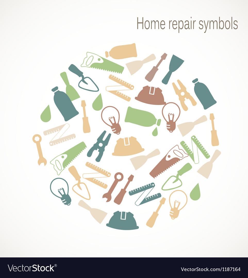 Home repair symbols vector image