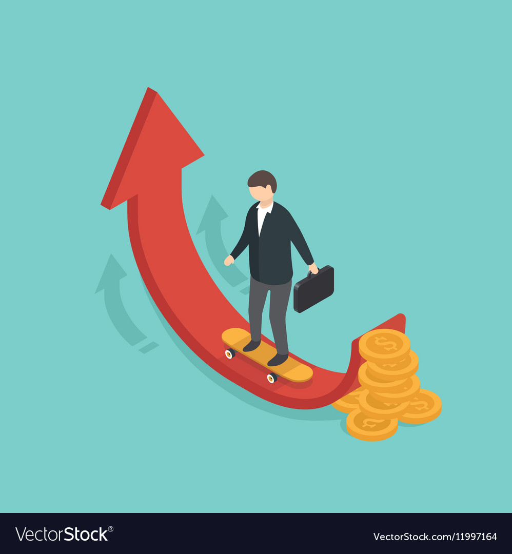Money growth concept vector image