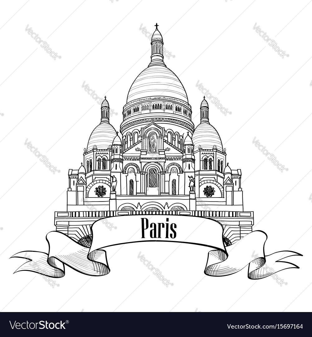 Paris landmark the basilica of the sacred heart