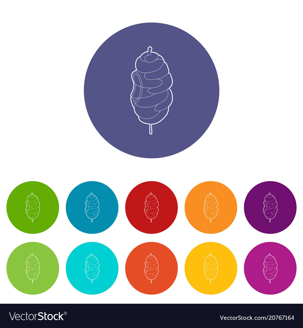 Shawarma icon outline style vector image