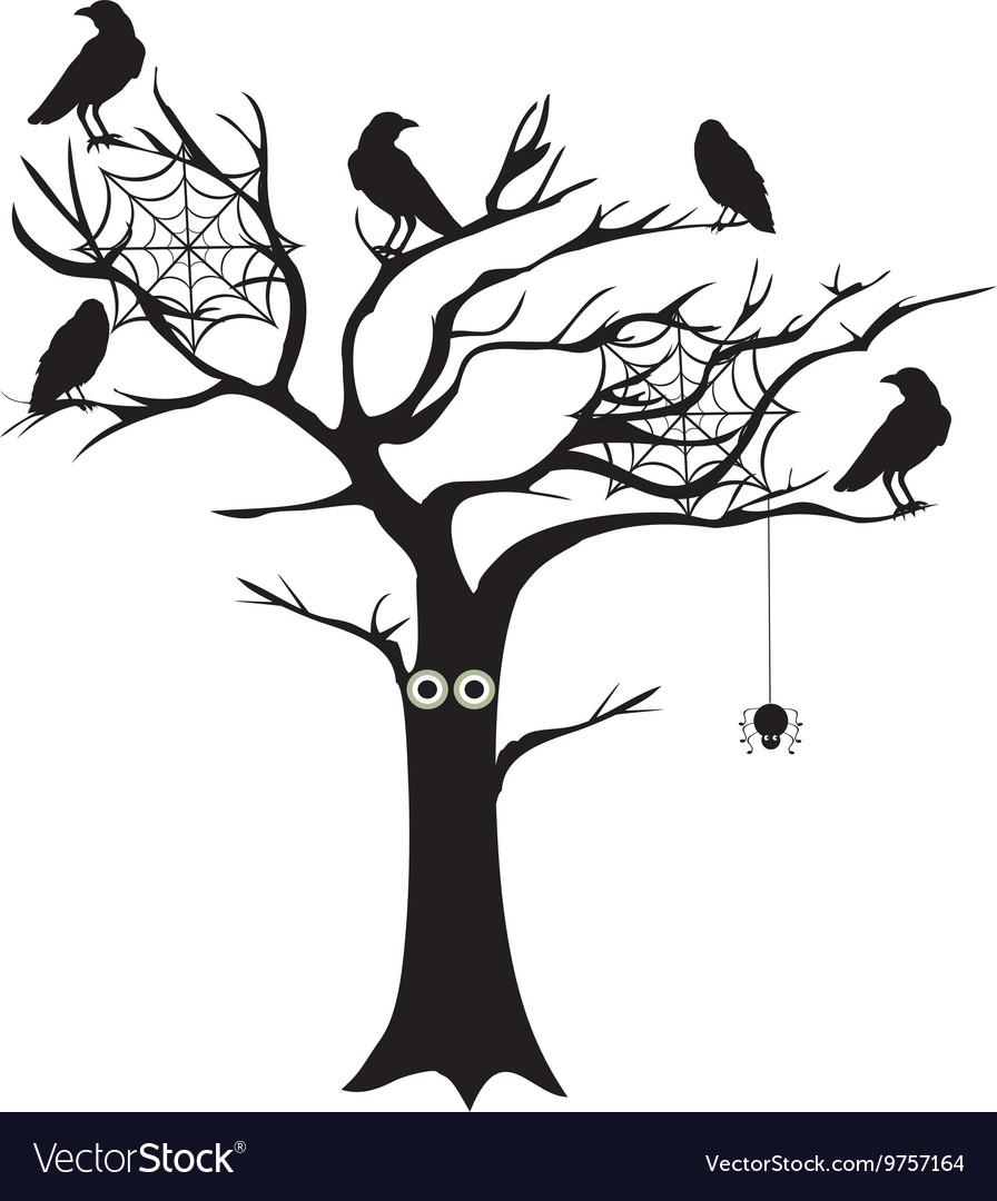 spooky tree royalty free vector image vectorstock