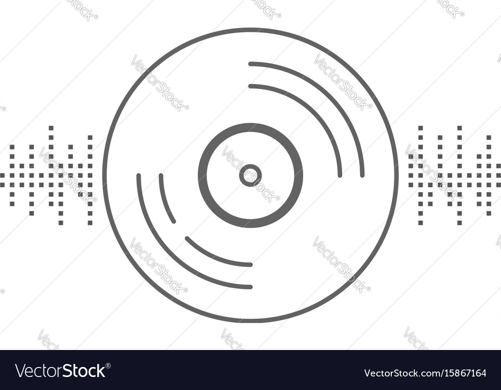 Vinyl record with equalizer sign