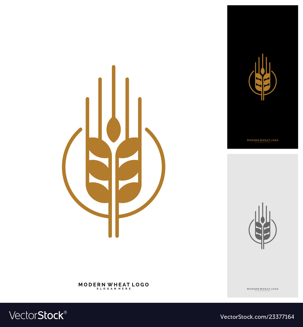 Wheat luxury grain and bread labels nature wheat