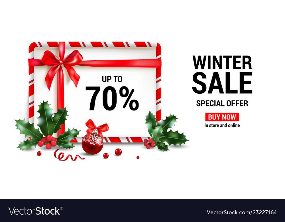 Winter sale frame
