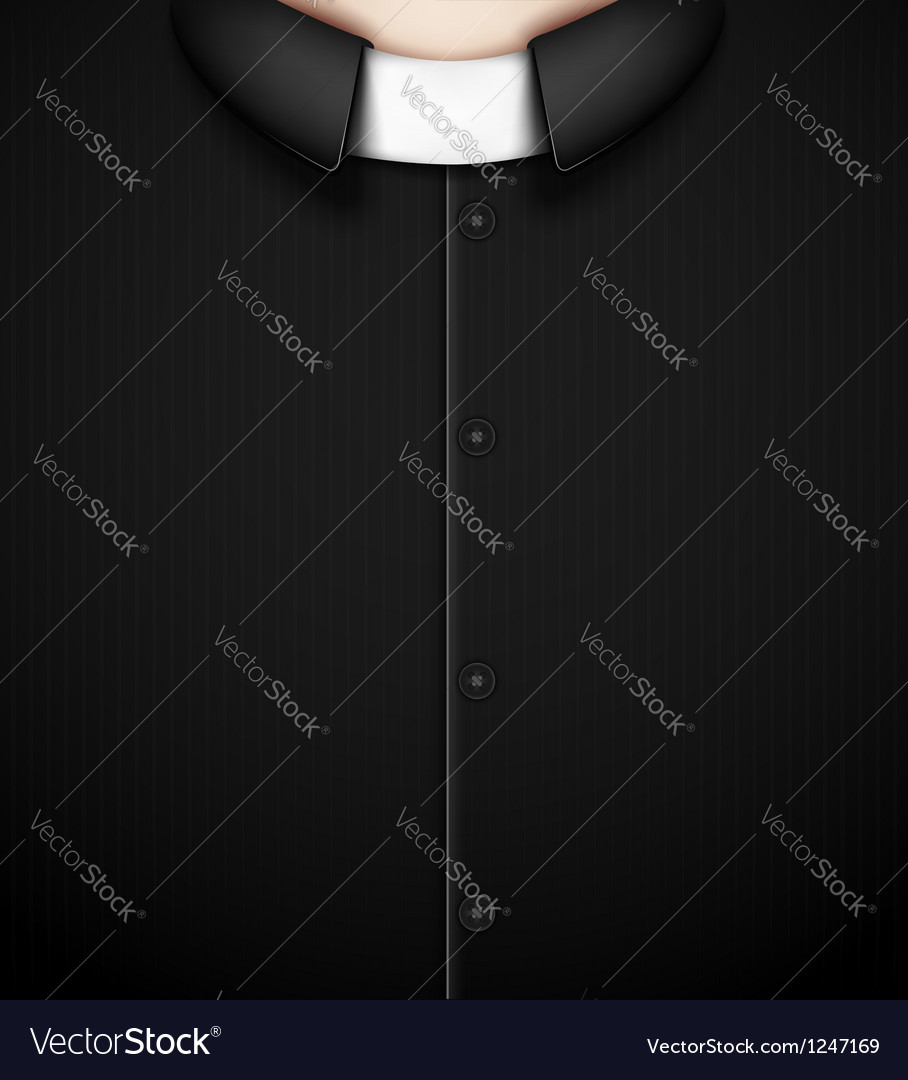 Costume priest vector image