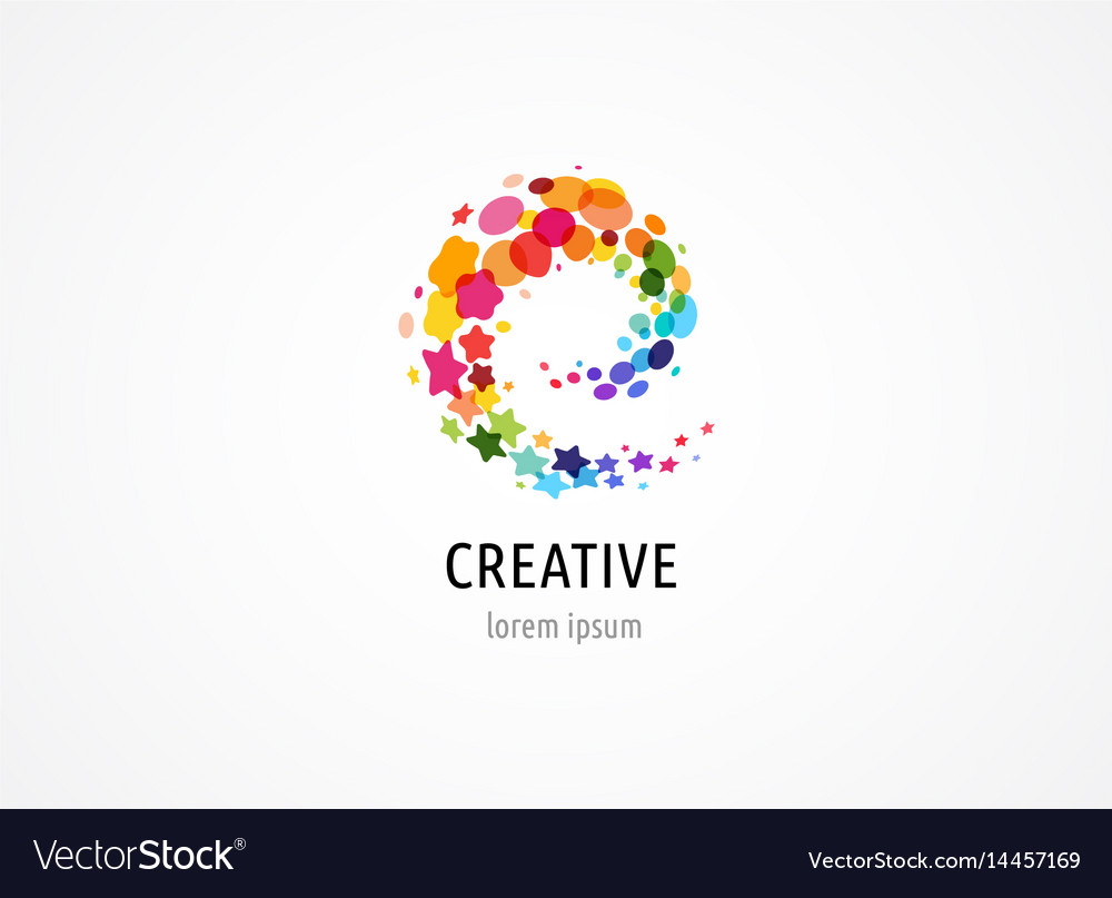 Creative digital abstract colorful icons logos