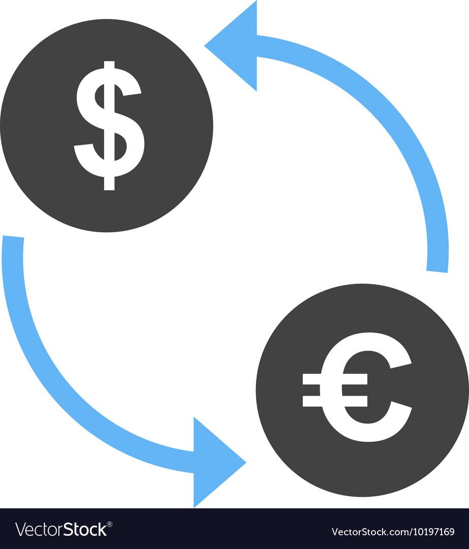 Dollar To Euro Convert Vector Image