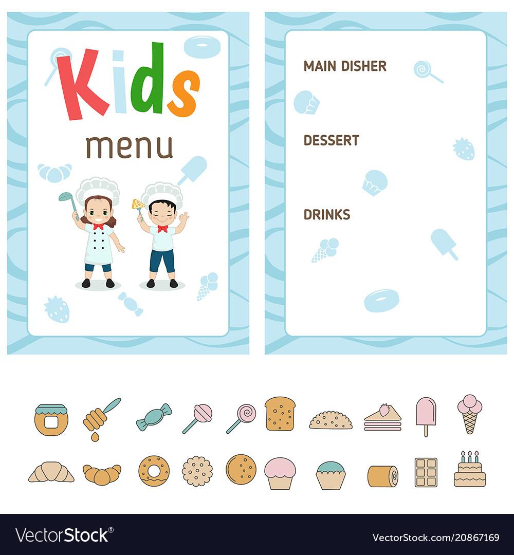 Kids menu design kids menu design