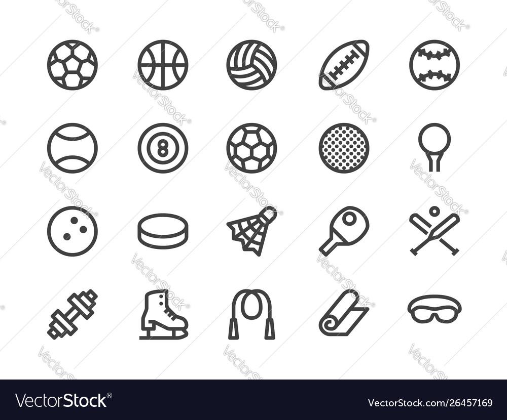 Sports equipment line icon
