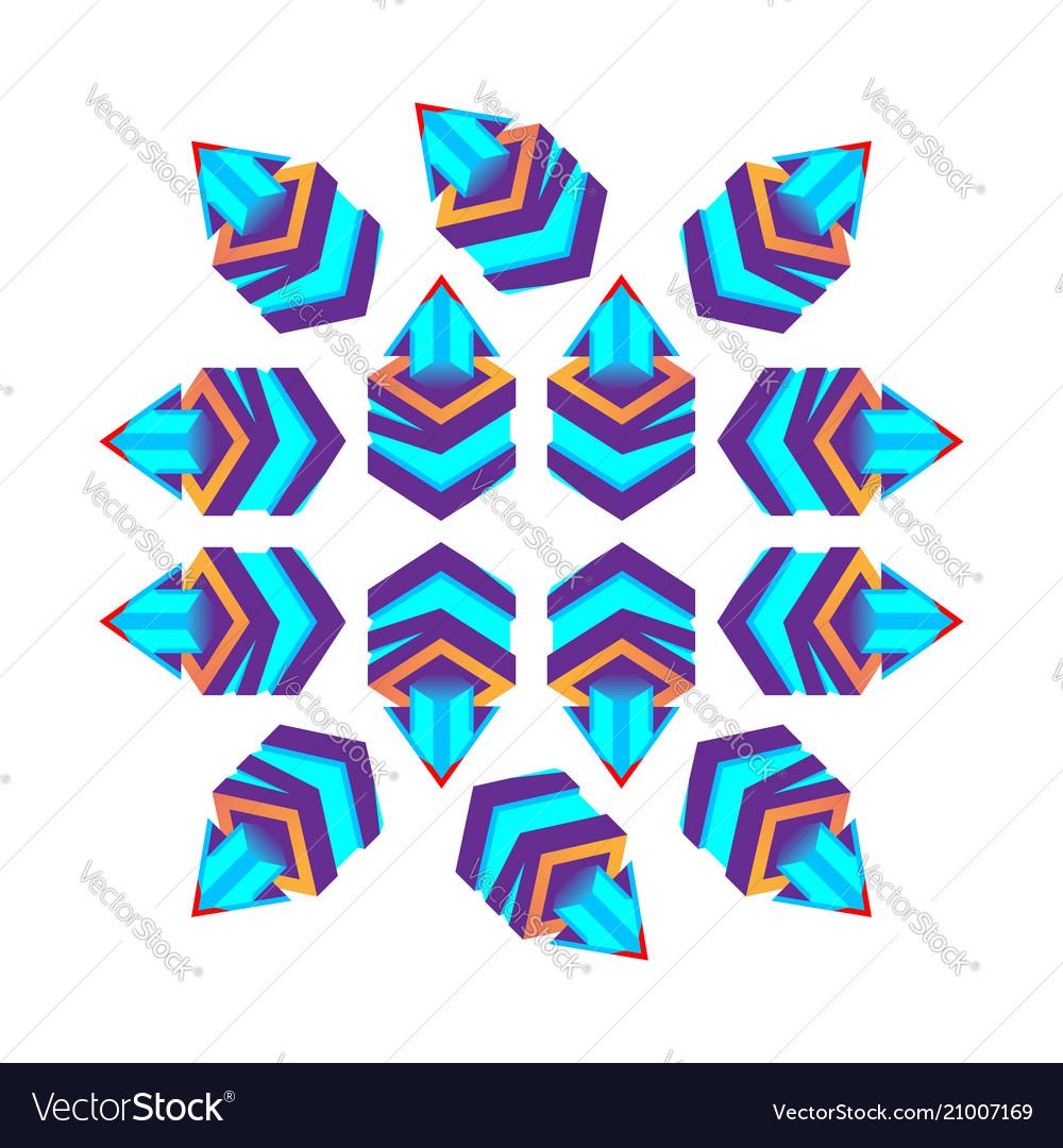 Such 3d cubes purple with arrow logo design