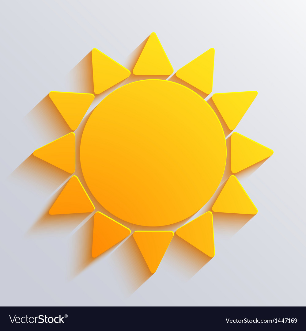 Sun background Eps10 vector image