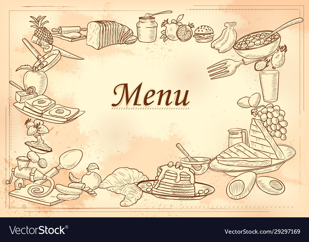 Template different types breakfast item