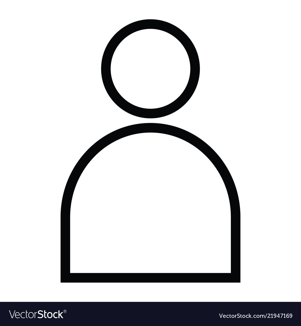 User single icon with outline style