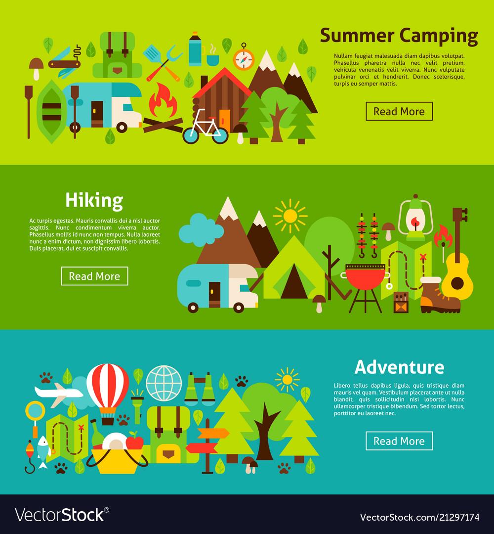 Camping web horizontal banners