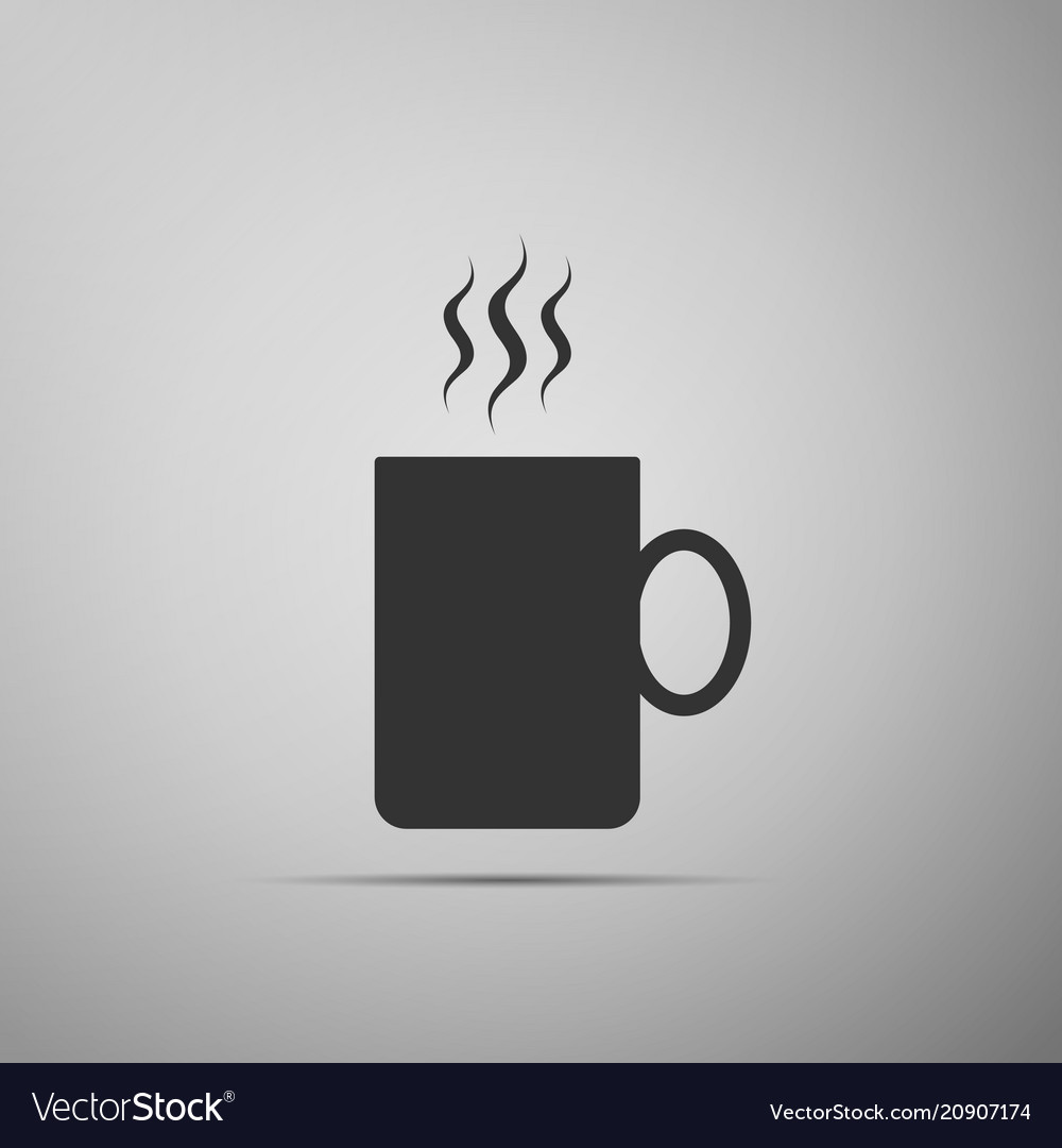 Coffee cup flat icon tea cup hot drink coffee