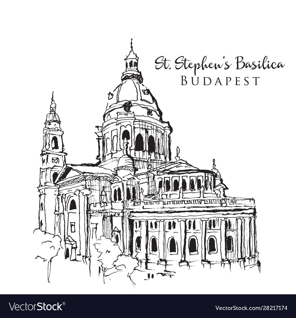 Drawing sketch st stephens basilica