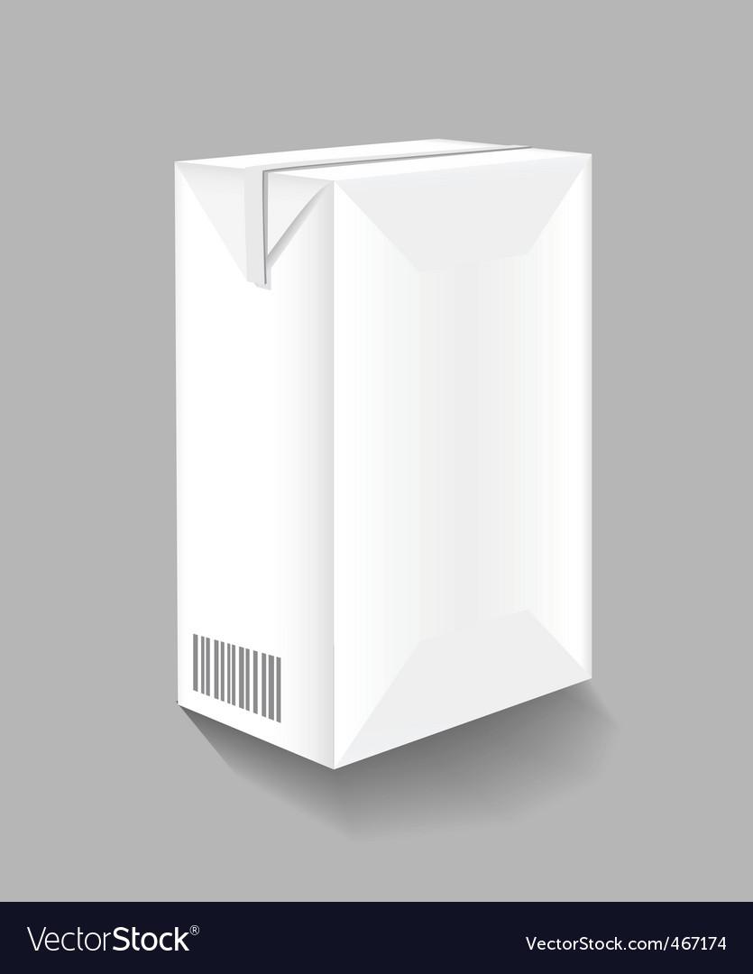 Drink carton vector image