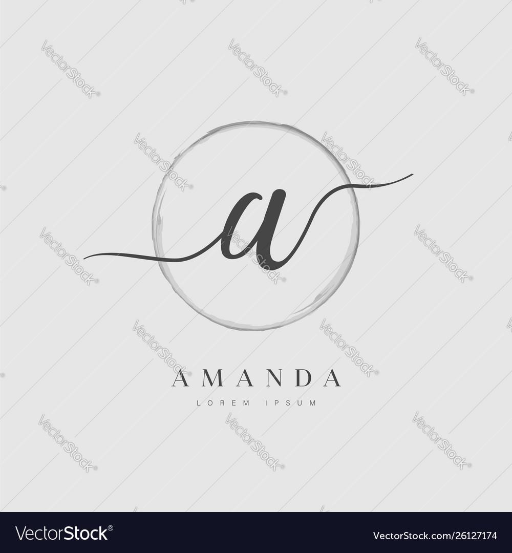 Elegant initial letter type a logo