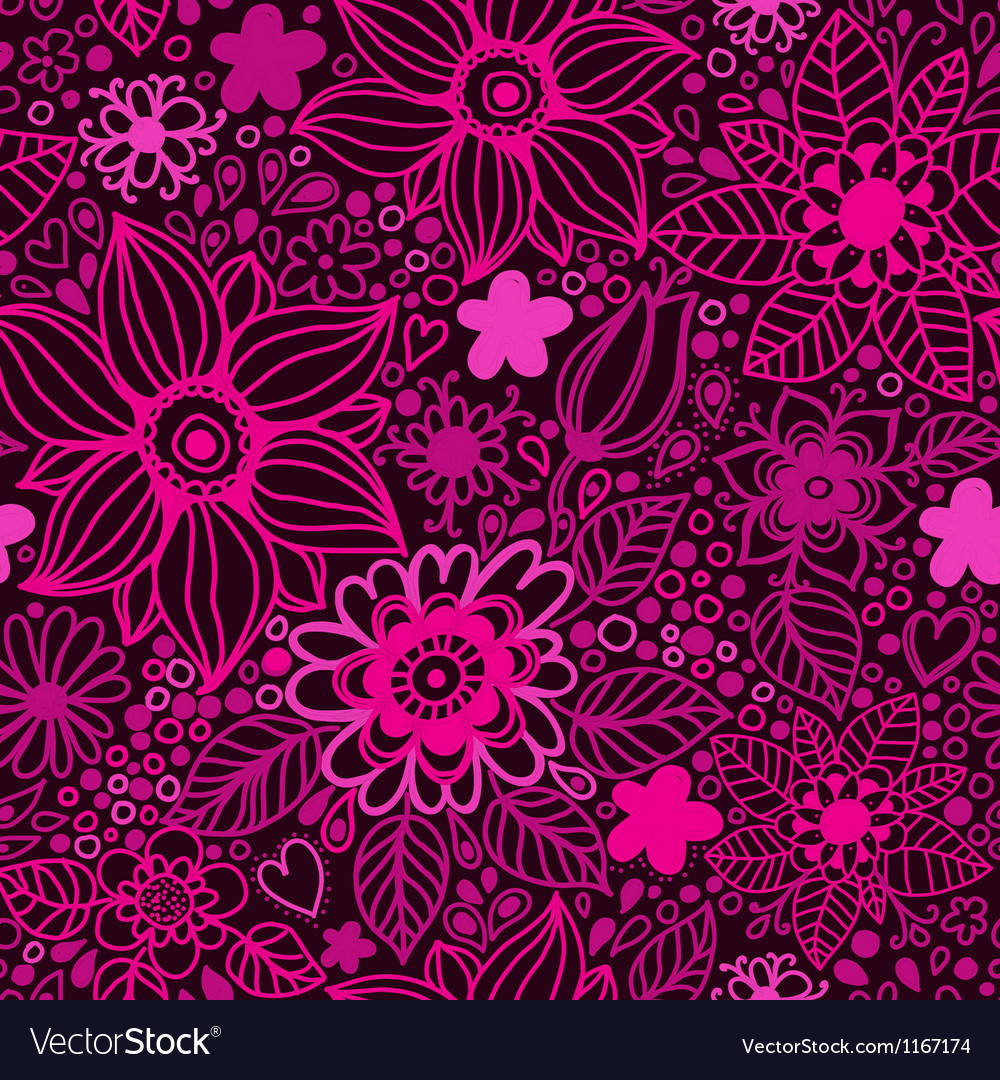 Floral seamless pattern in