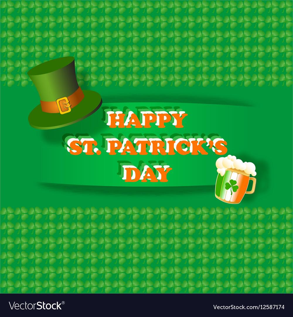 c4fa614b Happy St Patrick Day greeting card Royalty Free Vector Image