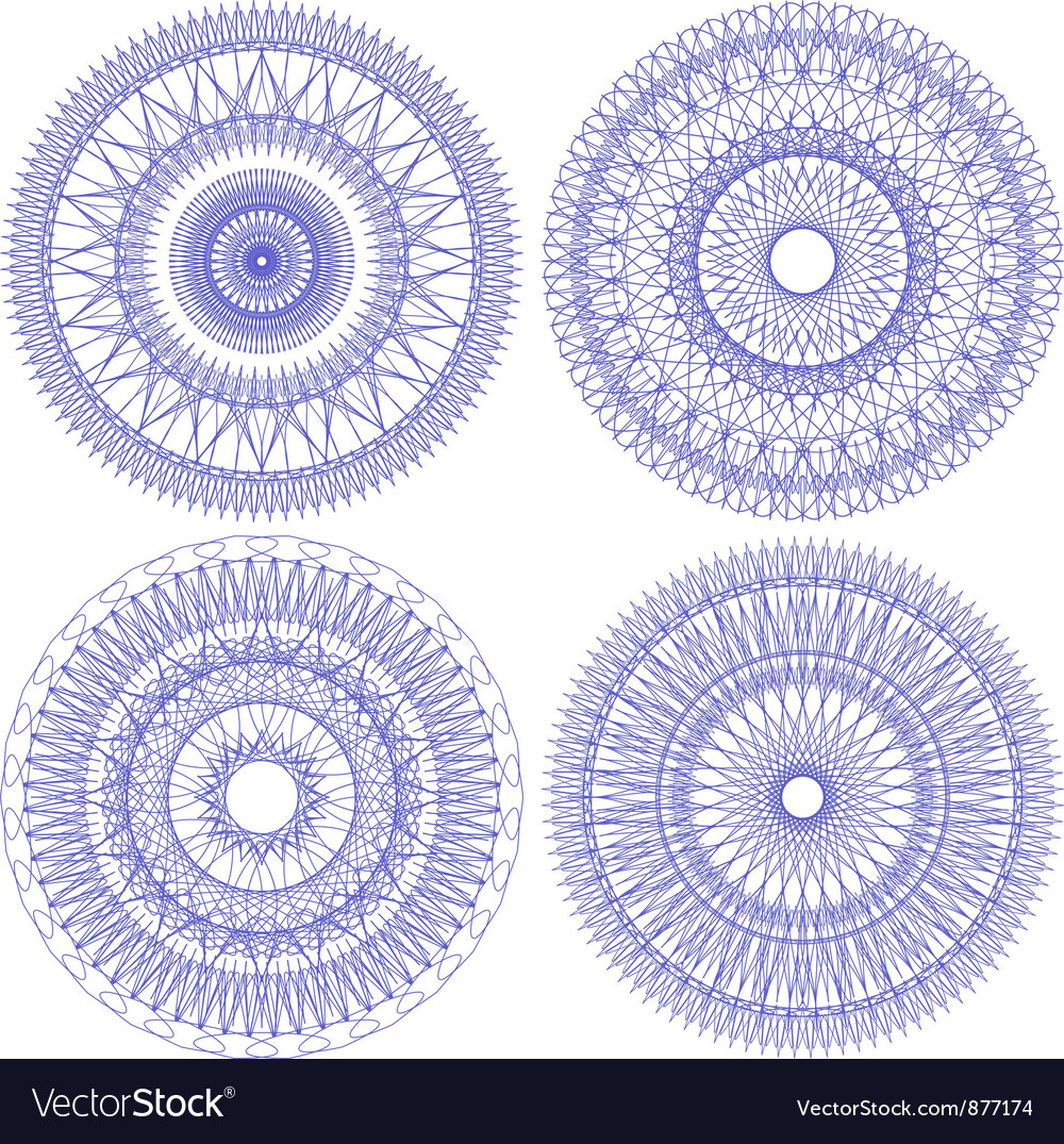 Patterns for currency certificates vector image