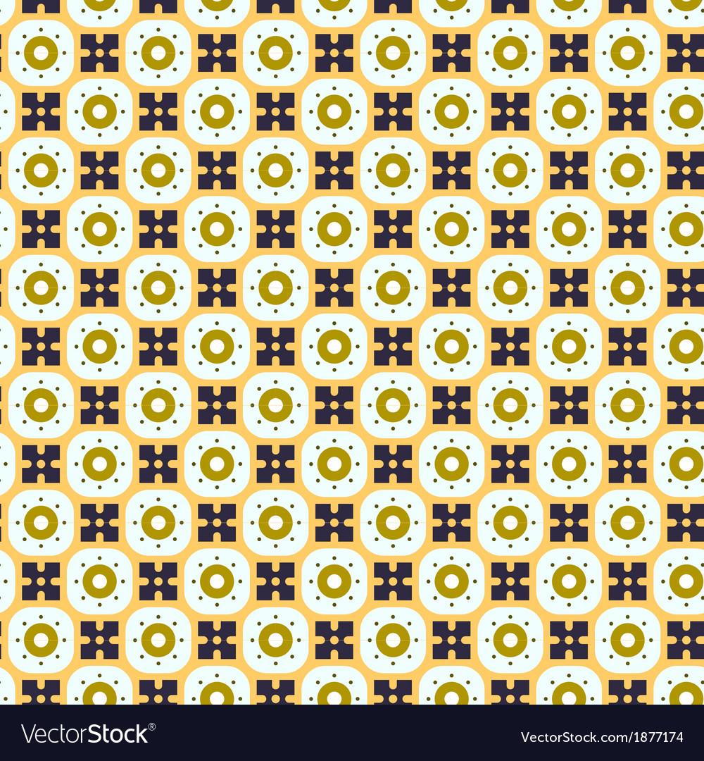 Seamless simple retro geometrical pattern of