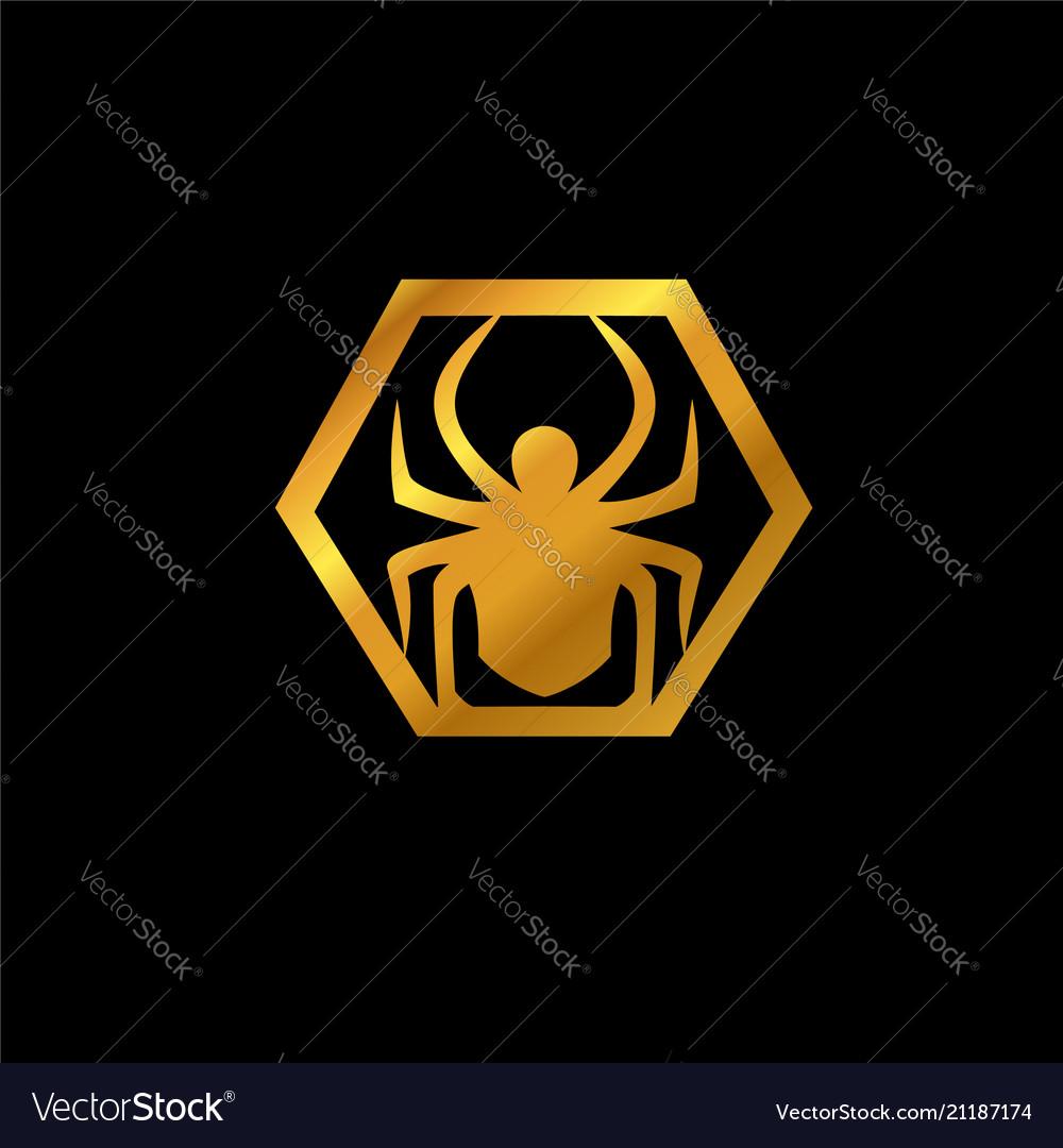 Spider emblem logo animal logo design concept