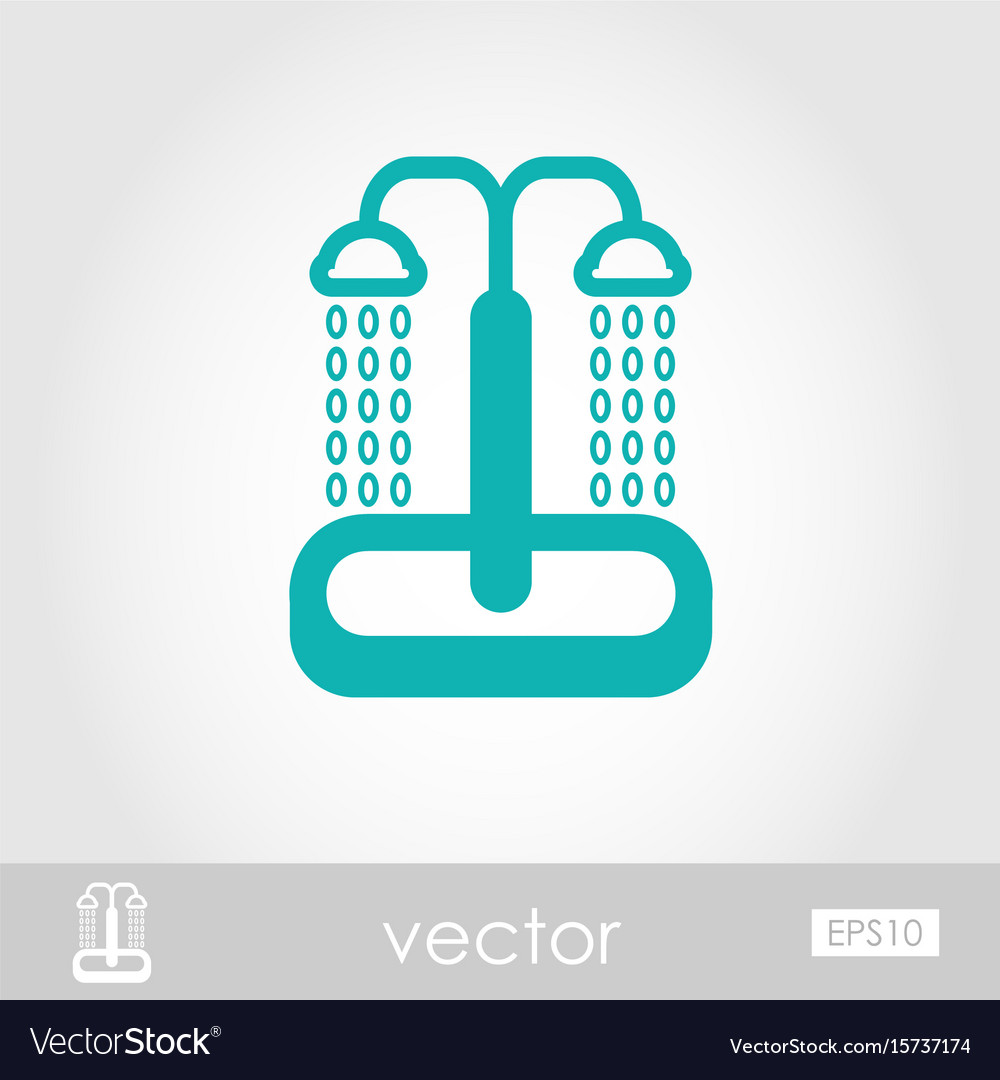 Summer beach pool shower icon summer vacation vector image