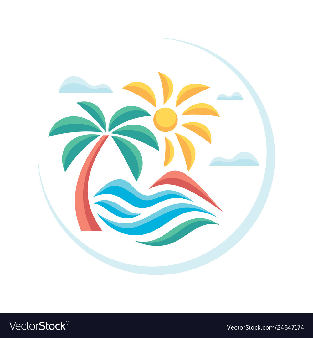 Summer tropical vacation - concept advertising