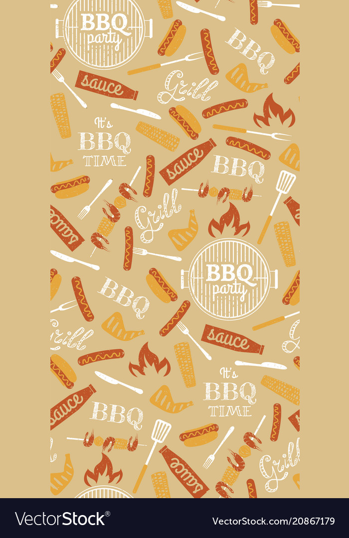 Bbq party seamless pattern