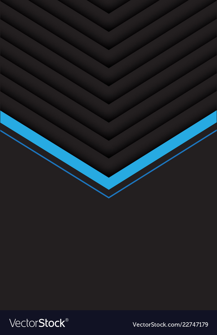Blue grey arrow pattern with black blank space