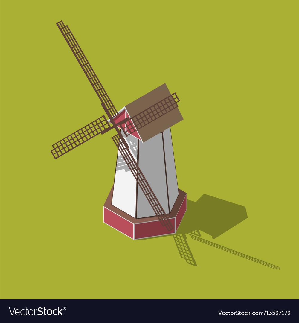 Dutch windmills isometric