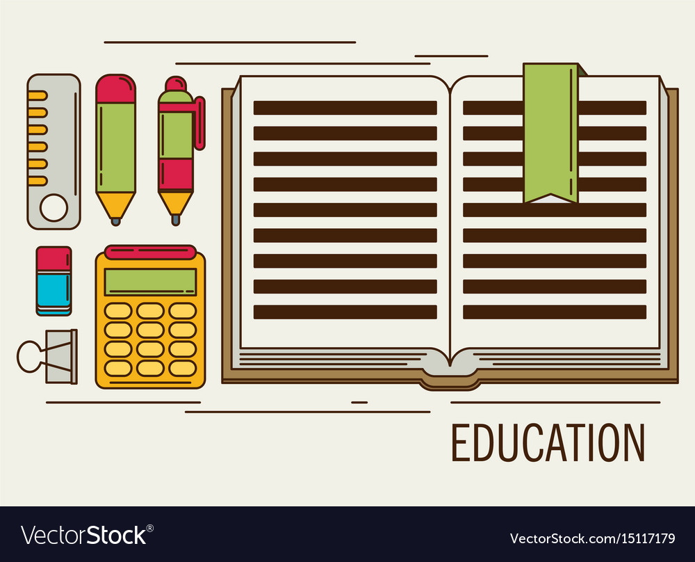 Education flat design concept for web and mobile