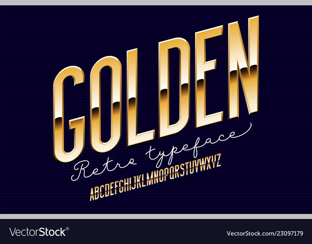 Gold metal alphabet