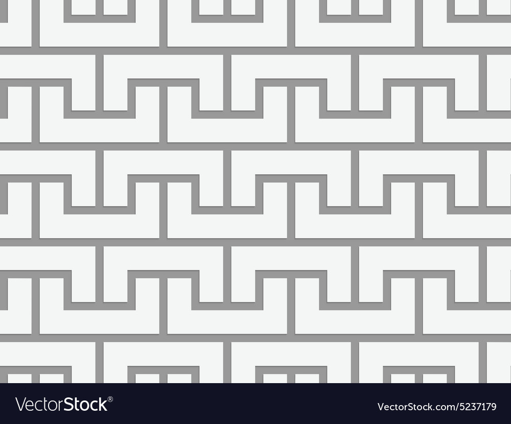 Perforated arcs fastened up and down vector image