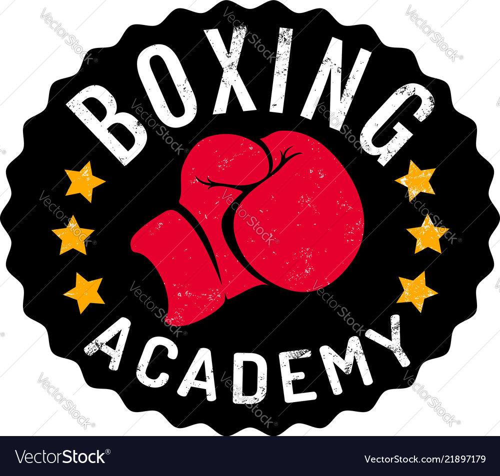 Vintage logo for boxing academy