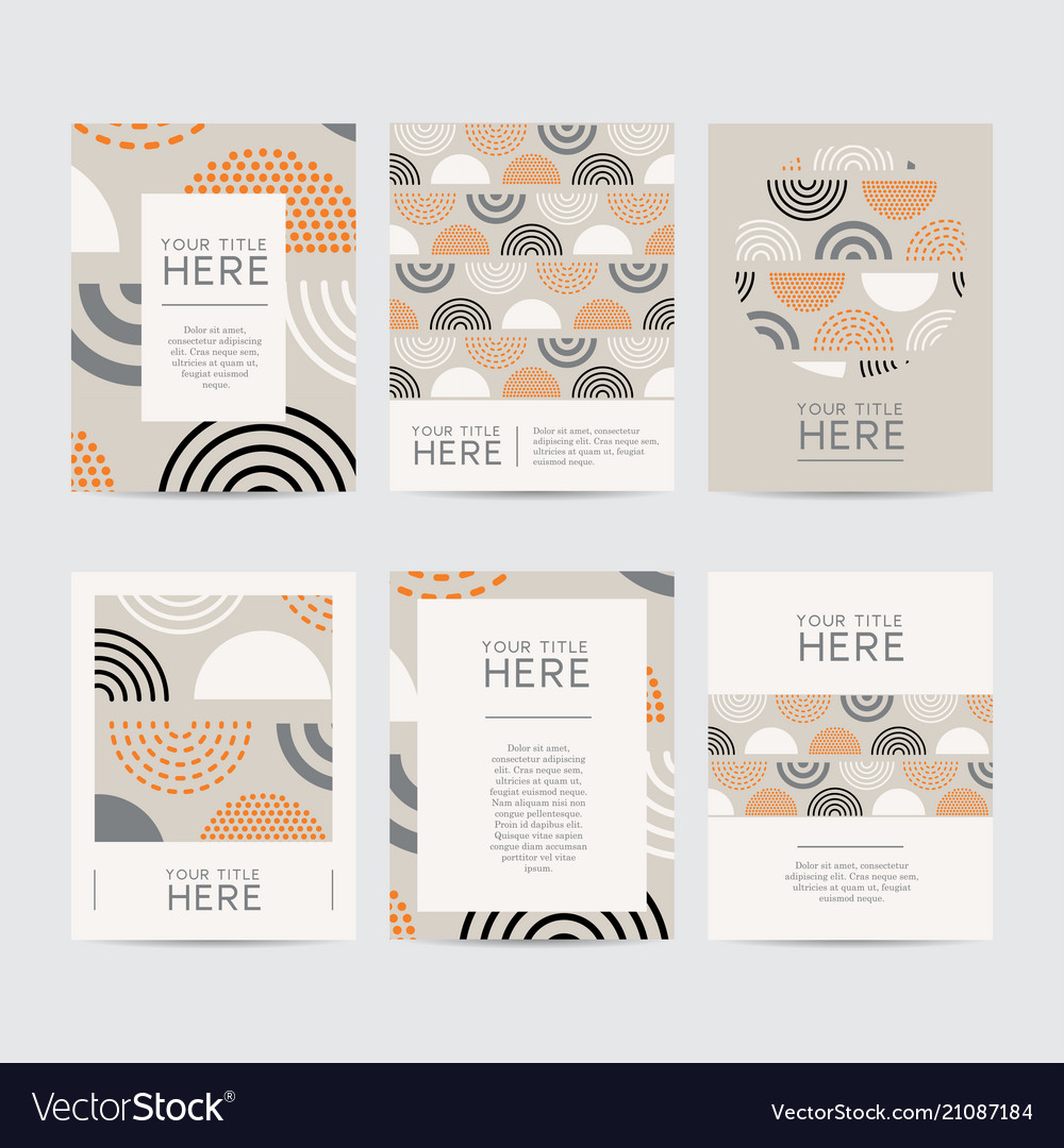 Abstract design brochure set