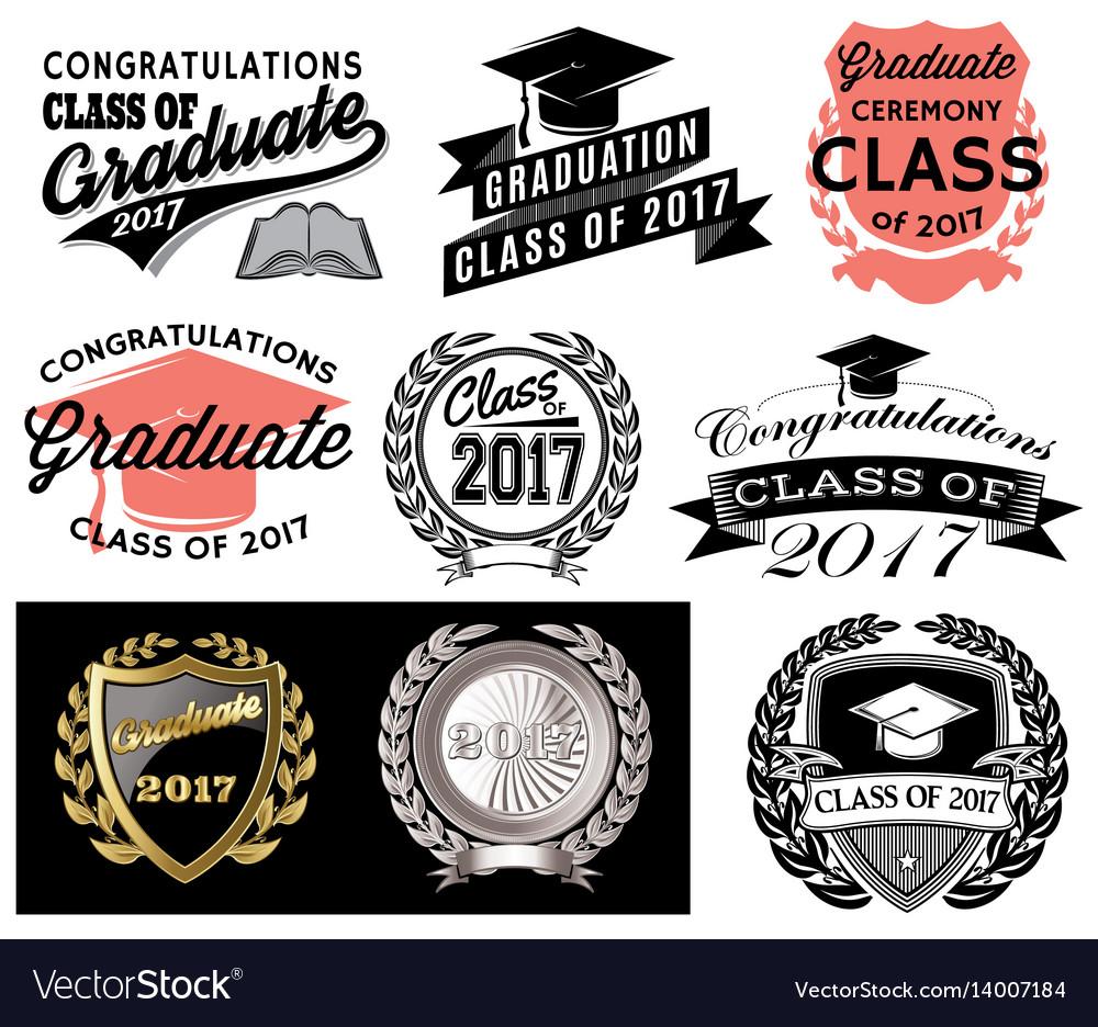 Graduation set class of 2017 congrats grad