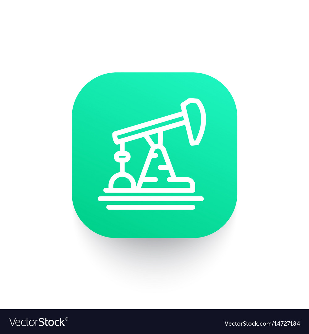 Oil pump icon in linear style