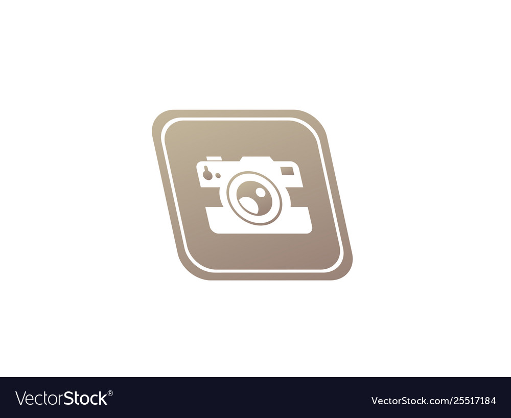 Photographe an old style camera logo design in