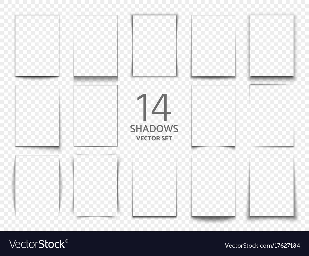 Rectangular shadow box frames from paper sheets Vector Image