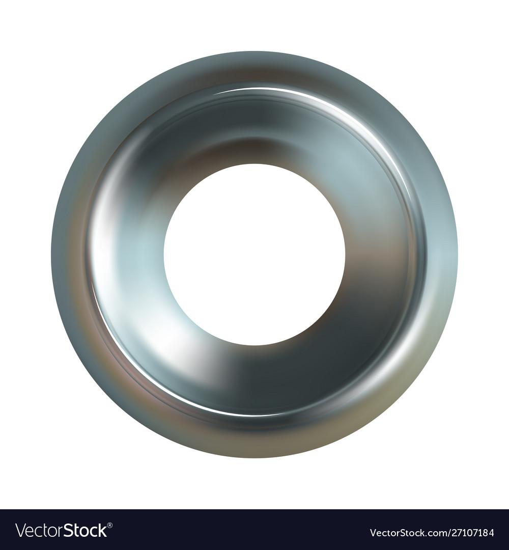 Steel washer realistic steel washer icon