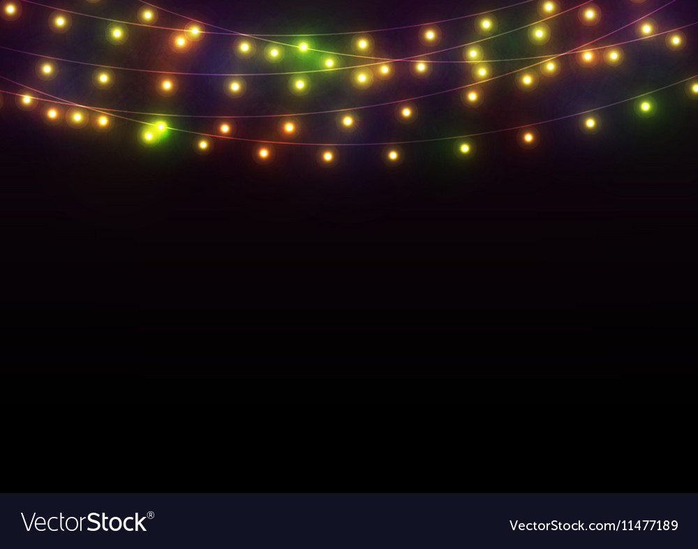 Bright Lights Background vector image